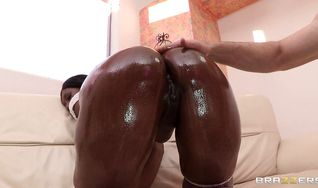 Divine diva Nyomi Banxx decided to suck a rock hard chopper and get it up her booty