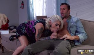 Divine blonde maiden Kleio Valentien gets her booty tongue bum fucked by talented mate