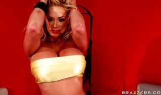 Inviting blonde Shyla Stylez got bum fucked from the back while she was in a doggy style position