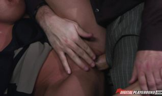 Seductive gal is getting a hard shlong up her tight butt