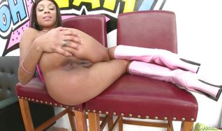 Racy Verta got fucked in the butt after she was eagerly sucking bf's slim jim
