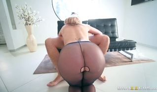 Lovely Brooklyn Chase gets deeply ass fucked hard