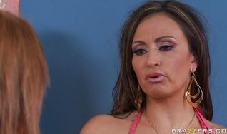 Prodigious Claudia Valentine can not handle a day without a hard chopper in her mouth and booty
