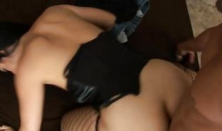 Luxurious Luscious Lopez gives a hot blowjob while fingering her bum