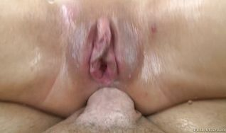 Dissolute darling Taylor May got butt fucked as a graduation gift from man and enjoyed every second of it