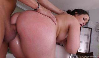 Brunette Lola Foxx is about to have casual anal sex with stud