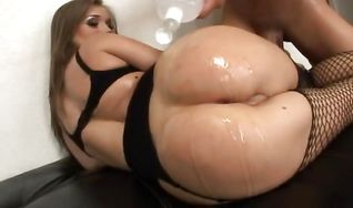 Tasty Rita Faltoyano with curvy natural tits is getting bum banged from behind while her husband is out of town