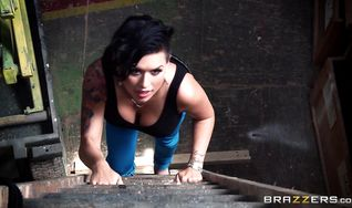 Delicious floosy Eva Angelina got bum banged from the back because she likes it the most