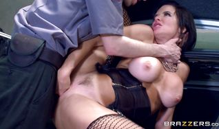 Classy sweetie Veronica Avluv with big tits has her meaty bum stretched by a big dink