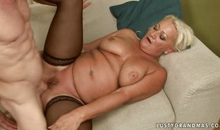 Adorable mature Cecily got booty fucked in many positions until she started moaning loud from pleasure