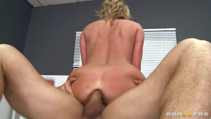 Prurient babe Zoey Holiday with round tits is about to have anal sex for the first time and she is very excited