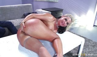 Filthy blonde girl Phoenix Marie is getting ass fucked hard
