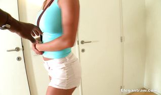 Voracious Franceska French getting her bum fucked the way she likes