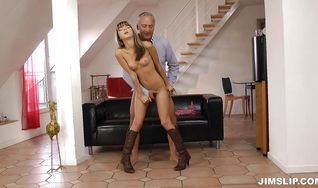 Goluptious Gina H gets her tight ass pounded for all she's worth