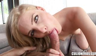Appetizing latin blonde girlfriend Cayenne Klein's wet bum getting ass fucked with so much perfection