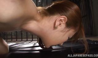 Enchanting nipponese Sena Kojima got bum fucked from the back until she started moaning from pleasure