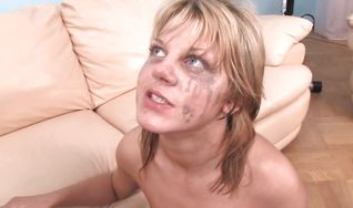 Goluptious cutie Sky experiences her first anal drilling on camera
