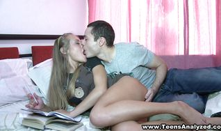 Remarkable blonde floosy is getting ass fucked from the back