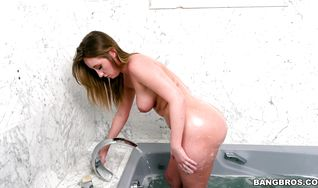 Striking blonde Harley Jade is getting butt fucked after a long time and enjoying it a lot