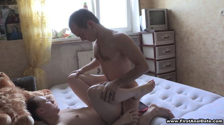 Nude blonde gal Nik gets her booty doggy styled hard