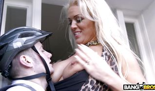 Hot-tempered girl Rebecca Jane Smyth is getting ass banged by pussy tester and enjoying every single second of it