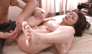 Mature asian girl Kyoko Nakajima is about to have wild anal sex adventure